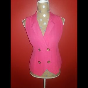 David Hollis Vintage  Pink Suit Vest
